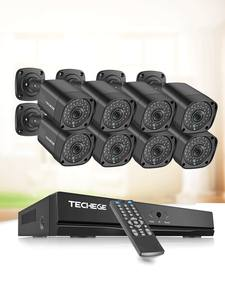 Techege System-Kit Surveillance-Kit Security-Camera POE Cctv-Poe H.265 Audio Outdoor