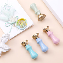 1Pc Wood Handle Wax Seal Stamp Accessories Portable Mini Diy Seal Tool Retro Macaron Color Just grip Post Gifts Decorative on AliExpress