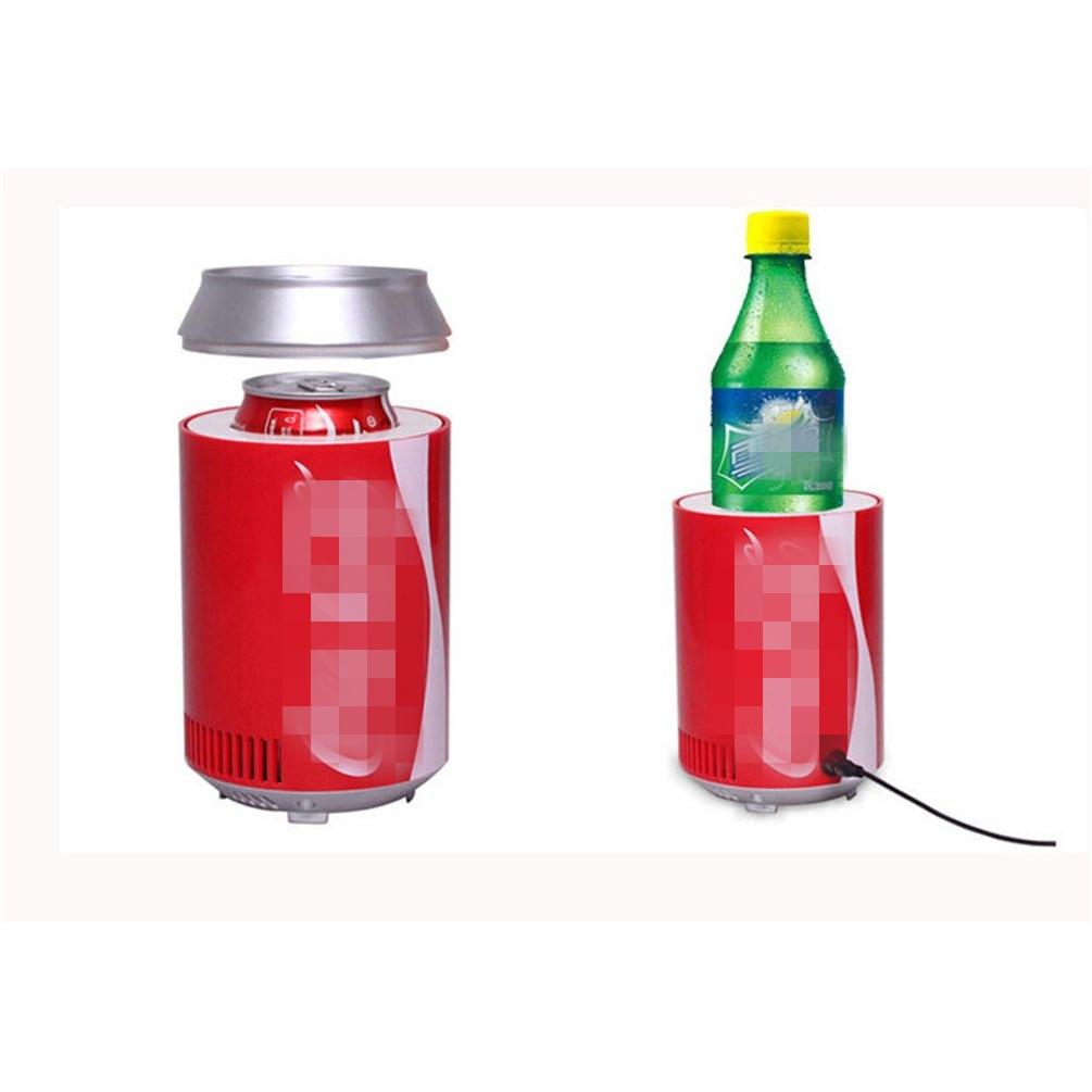 USB Fridge Cooler Freezer Electric Refrigerator Travel Cans Creative DC5V