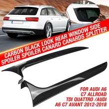 Alerón lateral para ventana trasera, con aspecto de carbono negro, Canard Canards, divisor para Audi A6, C7, Allroad, TDI, Quattro, Avant, 2013-18