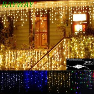 Image 1 - Guirnalda navideña de calle, cortina LED, guirnalda de luces tipo cortina droop 0,4 0,6 M, 5 m, 96 LED para interiores, luz decorativa para escenarios de fiestas, exteriores