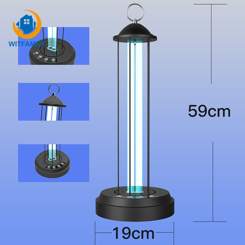 40W Household UV Germicidal Lamp Portable UVC Lamp Sterilizer Ozone Quartz Ultraviolet Disinfection Light 220V Bactericidal Lamp