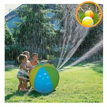 2019 Newest Hot Inflatable PVC Water Spray Beach Ball for Outdoor Lawn Summer Game Children's Toy Ball Water Jet Ball inflatale beach ball water walking ball inflatable bubble water ball