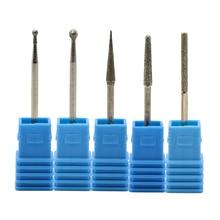 5Pcs/Lot Diamond Nail Drill Bits Ceramic Milling Cutter Silicone Stone Pedicure Remover Brush Files Cutters for Manicure