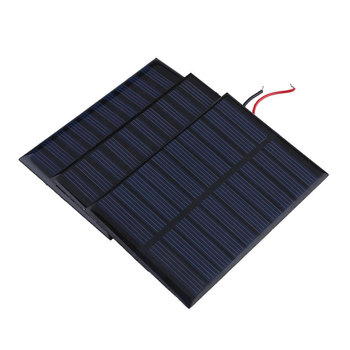 Solar Panel Portable Charger Cell Battery Module Module DIY 5V Source NEW Mini Home Car 0.8W Boat image