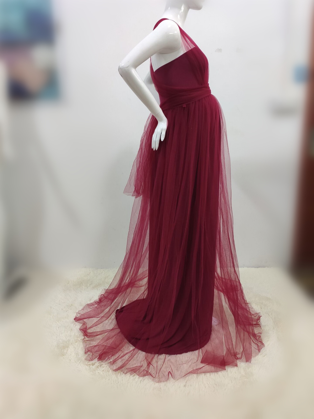 Tulle Sexy Maternity Dresses Photography Props Long Fancy Pregnancy Dress Mesh Pregnant Women Maxi Gown Clothes For Photo Shoots (19)