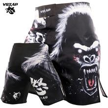 Vszap luta mma esportes kickboxing treinamento calças curtas homens boxe orangotango treinamento de fitness