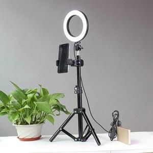 Image 3 - חצובות Selfie מקל עם טבעת למלא אור Dimmable טבעת Led מנורת סטודיו מצלמה טבעת אור תמונה טלפון וידאו אור מנורה