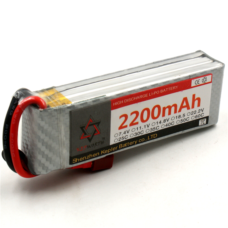 KEPWORTH RC Toys <font><b>LiPo</b></font> <font><b>Battery</b></font> 3S <font><b>11.1V</b></font> <font><b>2200mAh</b></font> 25C 35C 60C For RC Airplane Aircraft Drone Car Rechargeable <font><b>Batteries</b></font> image