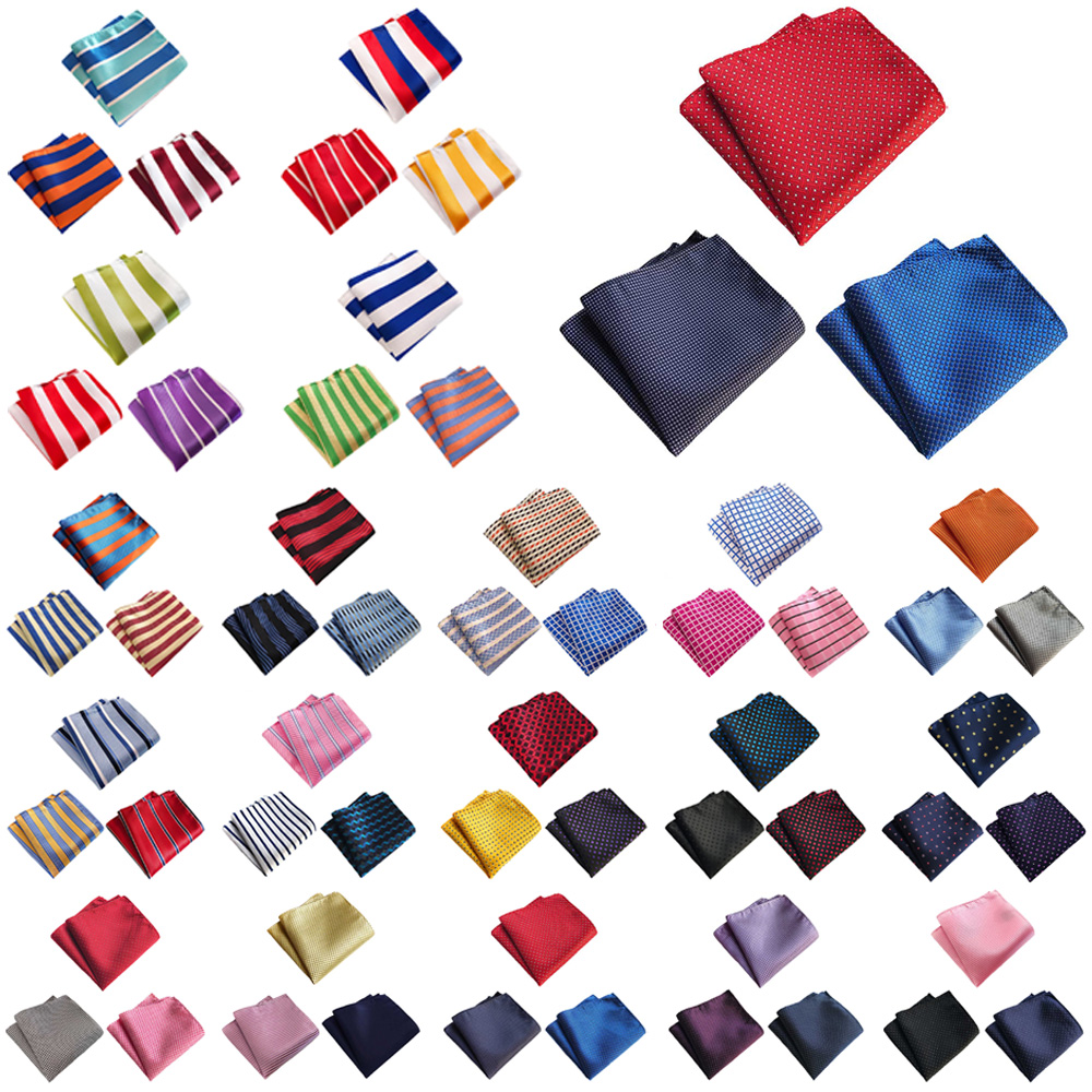 3 Packs Men Classic Colorful Stripe Pocket Square Wedding Party Handkerchief BWTHZ0371