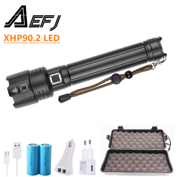 XHP90.2 Powerful LED Flashlight USB Rechargeable Lantern Tactical Light Camping Riding Light power by 26650/18650