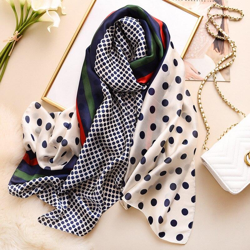 Brand Designer Silk Scarf Women 2019 New Printed Shawls And Wraps High Quality Pashmina Ladies Gift Large Soft Foulard Hijab