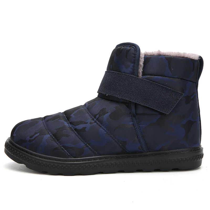 Times New Roman Winter Casual Schnee Stiefel Männer Wasserdichte Stiefeletten Flache Slip-Beständig Mode Mann Winter Schuhe Plus größe