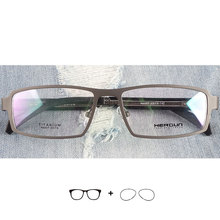 Titanium prescription glasses for men myopia/hyperopia/astigmatism