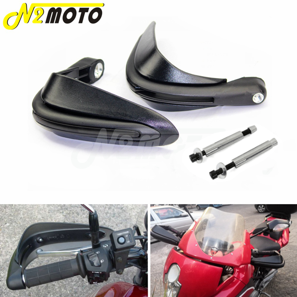 AGAWA Motorcycle Hand Guards,7//8 22mm Handlebar Hand Brush Guards,Carbon Fiber Protector Handguards for Motorcycle Off-Road Pit Dirt Bike