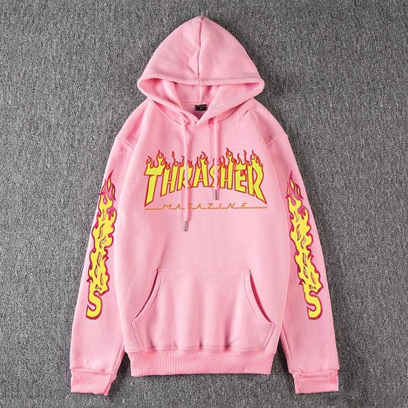 Men Women's Casual Hoodies Fashion Long Sleeve Flame Printed Couple Hoodies Sweatshirts S-4Xl 10