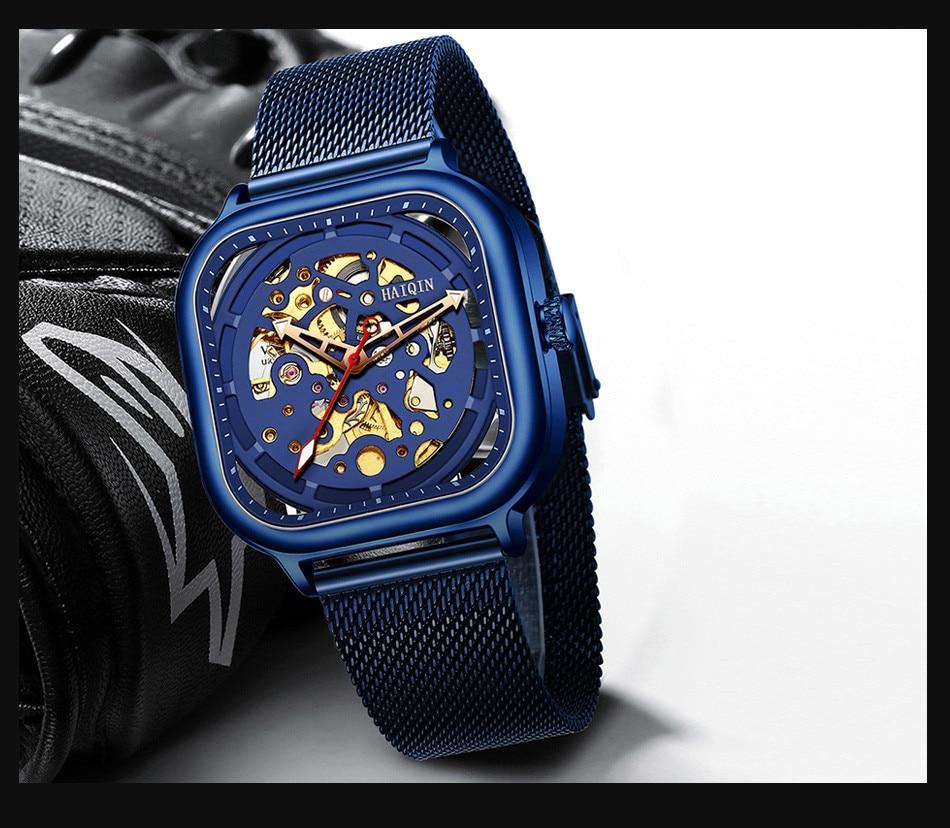 H3844932820a840949b764594b1571fb6U HAIQIN 2019 Fashion Mechanical mens watches top brand luxury sport wristwatch men waterproof Quartz mens clock Relogio Masculino