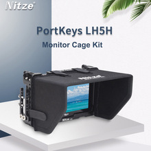 Monitor Cage Kit with Sunshade Hood Cover for Portkeys LH5H Monitor Protective Cage