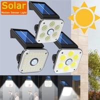 Luz led Solar lámpara led de pared para exterior luces de la noche con Sensor de seguridad de efecto invernadero jardín impermeable de calle