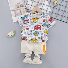 цена на Baby Boy Sets Clothes Summer Infant Baby Suits For Boys Print T shirt Pants 2Pcs Casual Sport Baby Outfits Infant Clothing Set