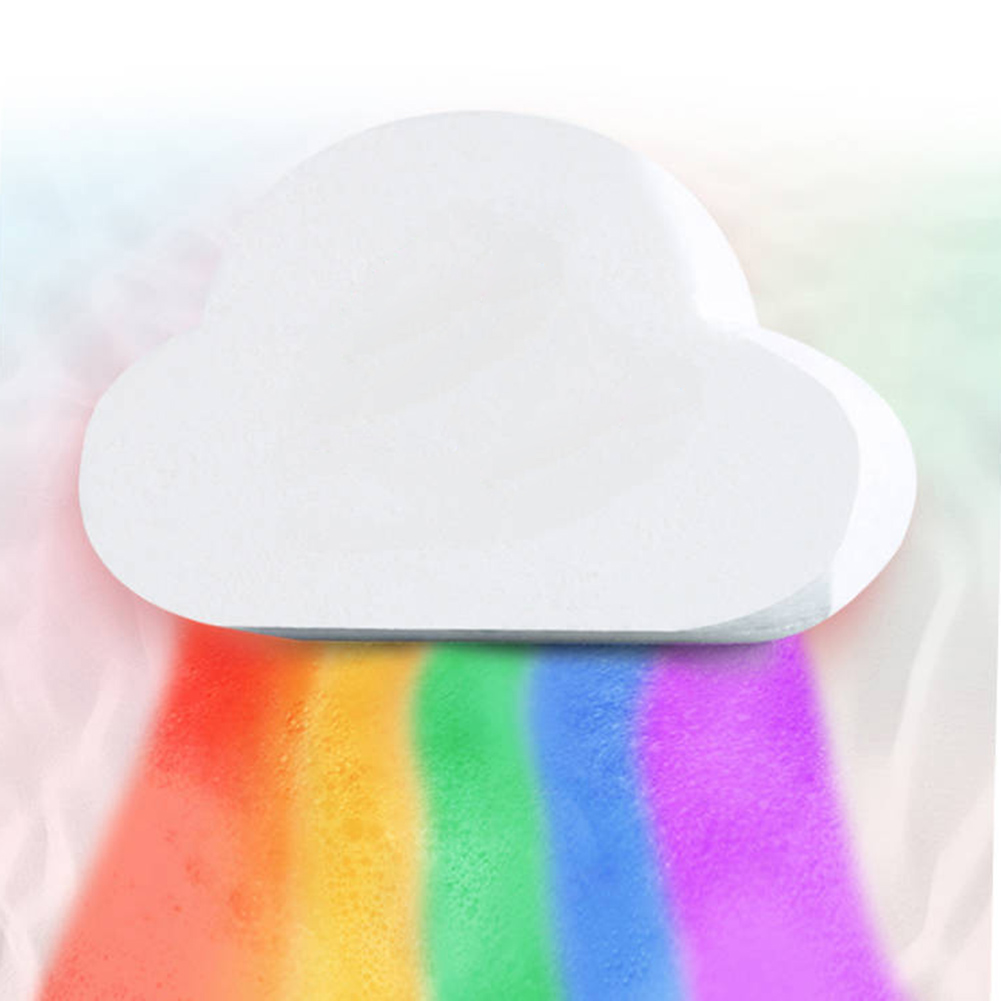 100g Rainbow Cloud Natural Bath Salt Exfoliating Moisturizing Bubble Bomb Ball Essential Oil Bubble Shower Natural Skin Care