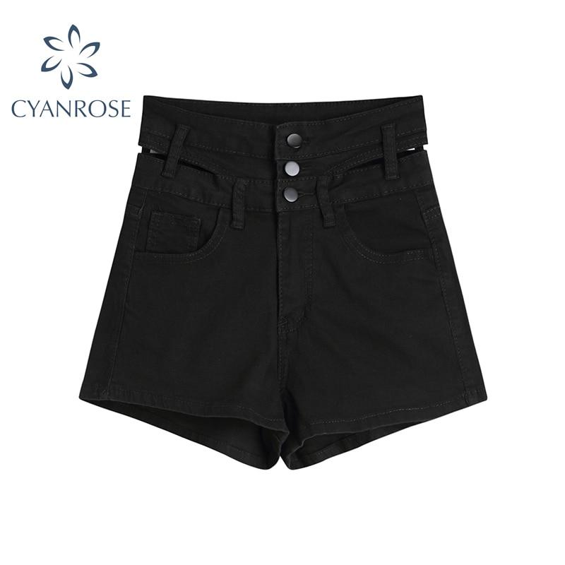 Сексуальные прямые джинсовые шорты с высокой талией для женщин, Новинка лета 2021, стильные дизайнерские женские джинсовые шорты с вырезами, ...