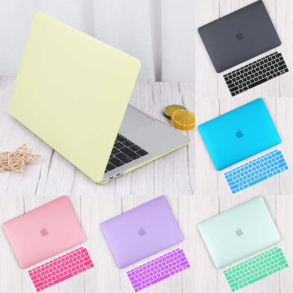Matte Plastic Hard Shell Cover Voor Macbook Air 13 Inch A1932 A2179 2020 Pro 13 16 Touch Bar A2141 A2159 a2289 Case + Keyboard Skin