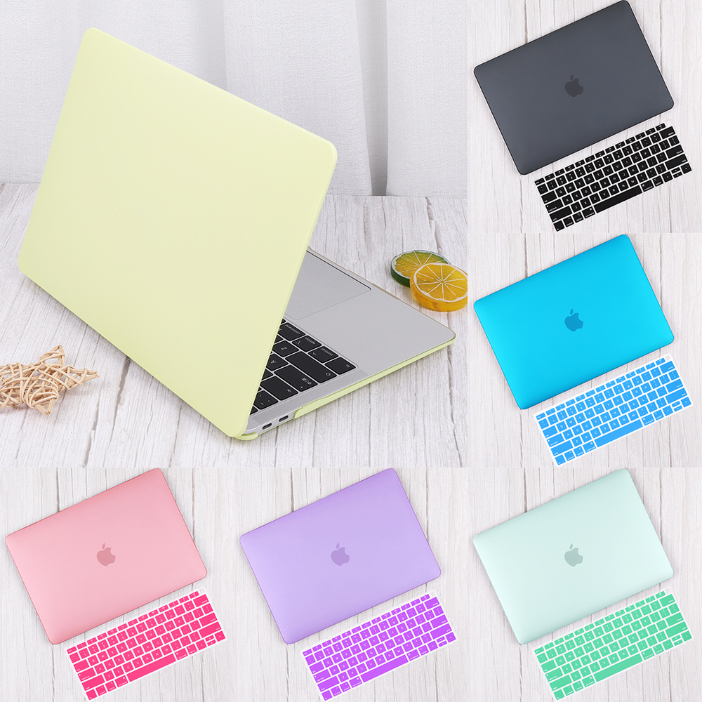 Matte Plastic Hard Shell Cover For MacBook Air 13 Inch A1932 2019 Pro 13 15  16 Touch Bar A2141 A2159 Laptop Case+Keyboard Cover