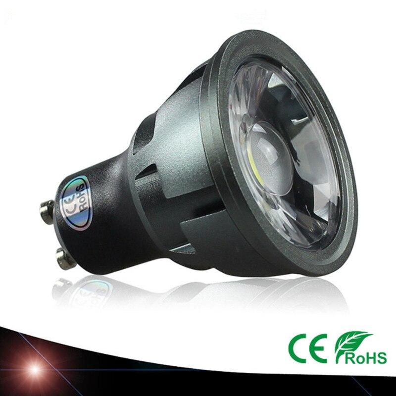 Gu10 lâmpada led spotlight 3 w 5 7 110v 220v 240v cob branco quente 3000k natureza branco 4000k branco 6500k ponto de poupança energia