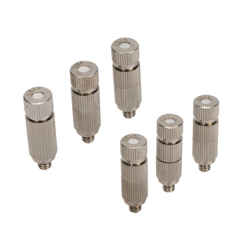 Garden High Pressure 3/16 Thread Ceramic Filter Atomizing Nozzles 0.1/0.15/0.2/0.3/0.4/0.5 mm Cooling Humidify Nozzle 100 Pcs