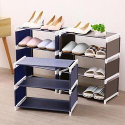 DIY składany 5 warstwy włókniny stojak na buty duży rozmiar domu salon tkaniny pyłoszczelna Organizer do szafki uchwyt stojak półka na buty w Półki i organizatory na buty od Dom i ogród na