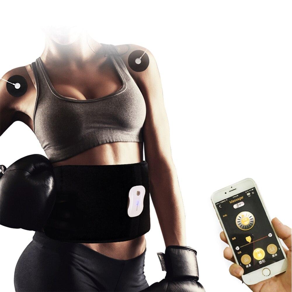 Приложение контроль EMS фитнес стимулятор мышц умная электрическая машина пояс для похудения потеря веса тренировка для талии ноги живота