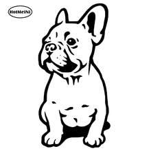 Hotmeini 7*14cm pegatina-adesivo-bulldog frances-nuevo diseno-vinilo-envio gratis etiqueta do carro preto/tira