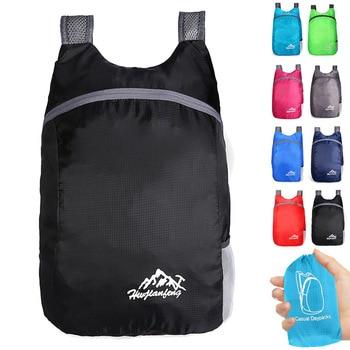 цена Bike Bag Nylon Fold Bicycle Backpack 20L Capacity Cycling Storage Bag Outdoor Ultralight Waterproof Bicycle Backpack онлайн в 2017 году