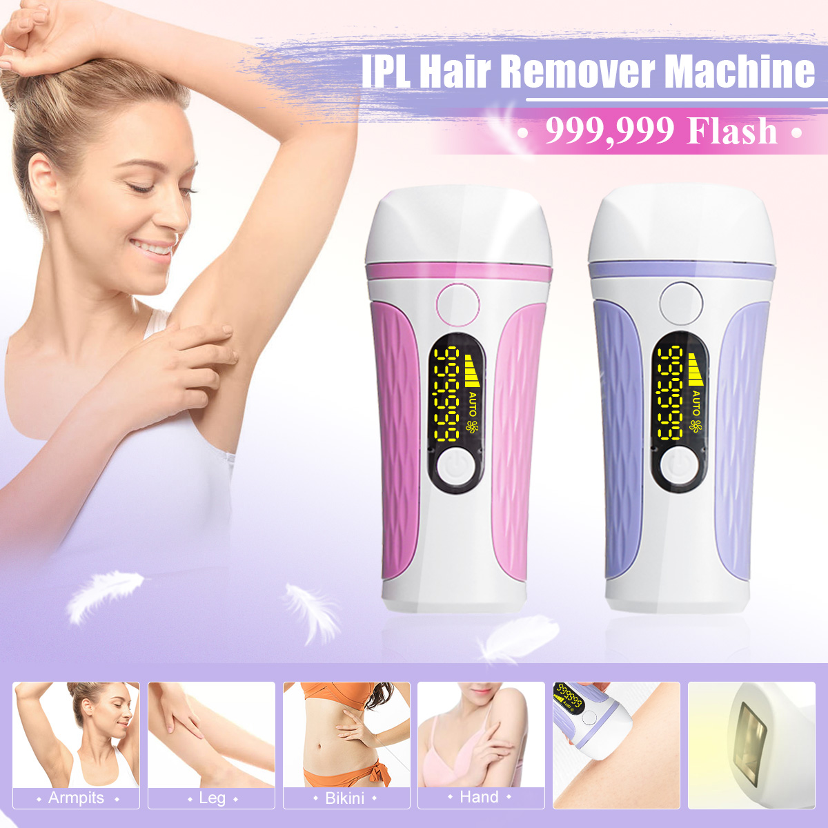 IPL Laser Hair Removal 999,900 Flash LCD Display Epilator Permanent Bikini Trimmer Painless Vancostar Electric Depilador Laser