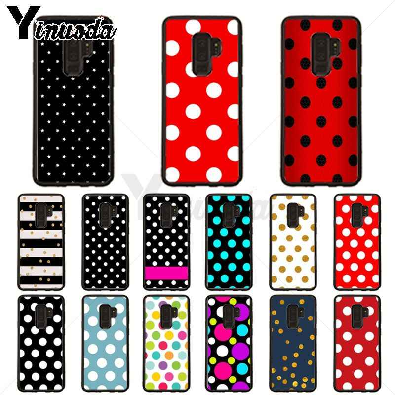 Red Black Gold Polka dots Dot Phone Case cover Shell For samsung galaxy s10plus s9 PLUS s8plus S10E A50 A70 A10 case Coque Shell