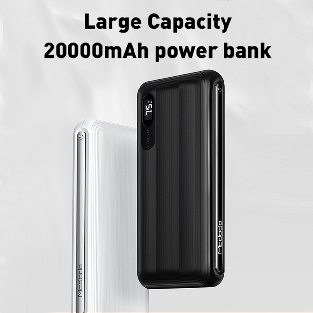 Mcdodo Power Bank 20000mAh Dual USB Fast Charge powerbank External Battery Bank For Xiaomi iPhone 11 Samsung LG Portable Charger 1
