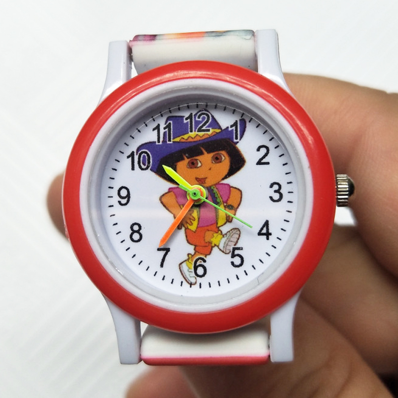 New Silicone Colored Strap Dora Kids Watches Girls Boys Party Gift Students Clock Children Quartz Electronic Watch For Kid Child