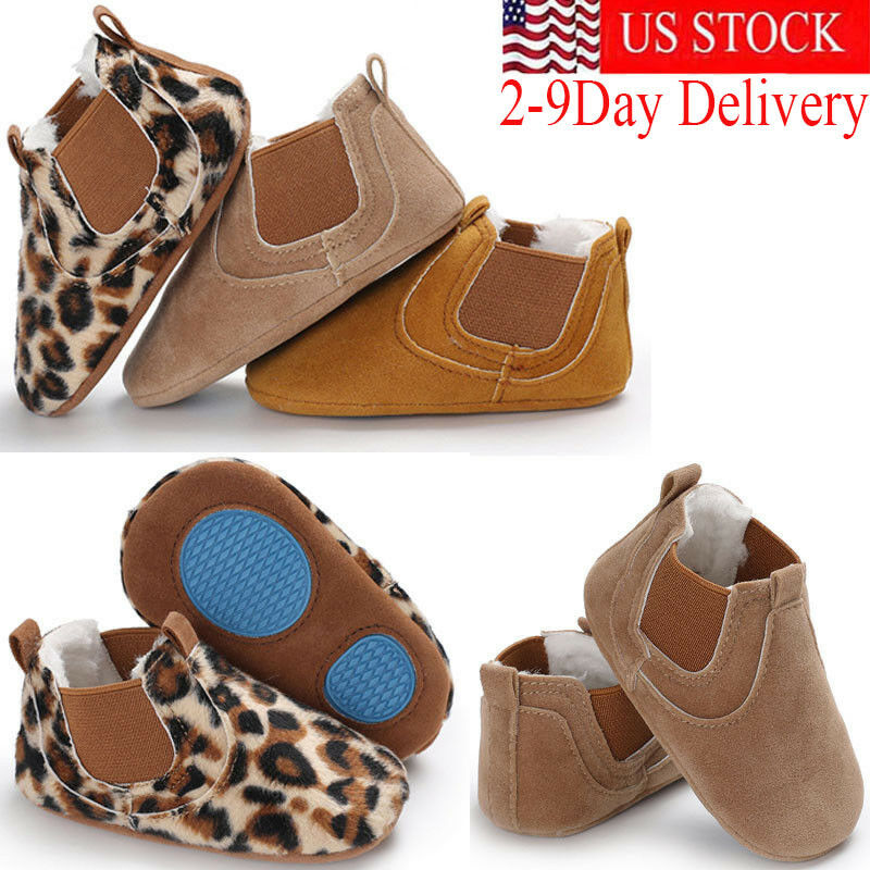 Pudcoco PU Leather Shoes Newborn Baby Girl Autumn Wheat Color Leopard First Walker Sneakers Shoes Toddler Classic Casual Shoes