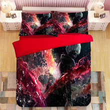 Tokyo Ghoul Cartoon Bedding Set Duvet Covers Pillowcases Kaneki Ken Comforter Bedding Sets Bedclothes Bed Linen Bed Set(China)