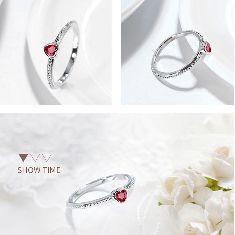ruby zircon ring 925 silver jewelry for women x1