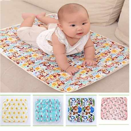 Baby Reusable Mattress Waterproof Diapering Changing Pads Cotton Washable Newborn Mattress Baby Changing Mat 30*45cm