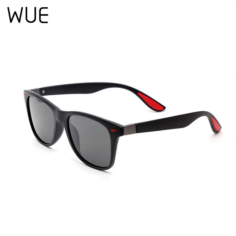 WUE NOVO DESIGN Ultraleve TR90 Polarizada óculos de Sol Das Mulheres Dos Homens Estilo Quadrado Óculos de Sol Masculino Óculos de Condução UV400 Gafas de sol