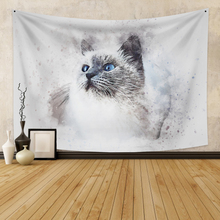 Wall Hanging Tapestry With cat  Boho Decor Background Animal Wall Tapestry  Wall Carpet  Dorm Decor for Bedroom Wall Home Decor