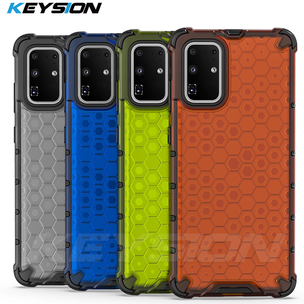 KEYSION Shockproof Armor Case for Samsung Galaxy S20 Plus S20 S20 Ultra Honeycomb Phone Cover for Samsung A51 A70 A30S A20S A50