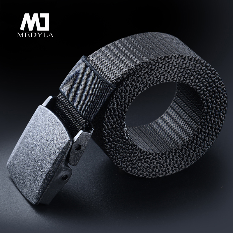 Men's Metal-free Canvas Belt Fashion Wild Belt Opening And Closing Buckle Youth Students Nylon Simple Personality Belt
