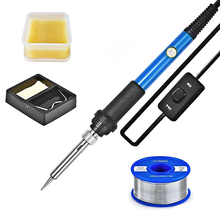 60W Electric Soldering iron station 220V 110V temperature adjustable welding soldering tools accessories Solder Paste