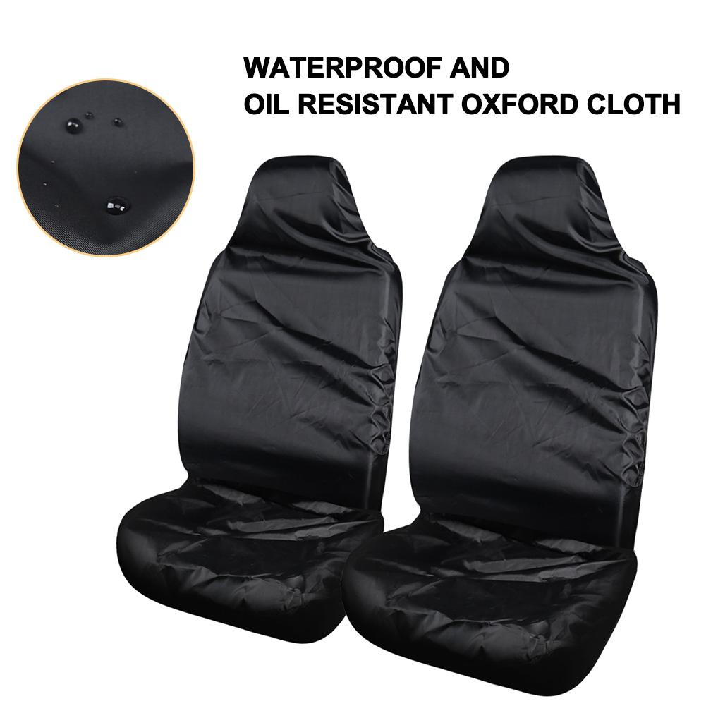 1Set Universal Waterproof Car Seat Cover Oxford Front And Rear Seat Cover Car Black Seat Protector