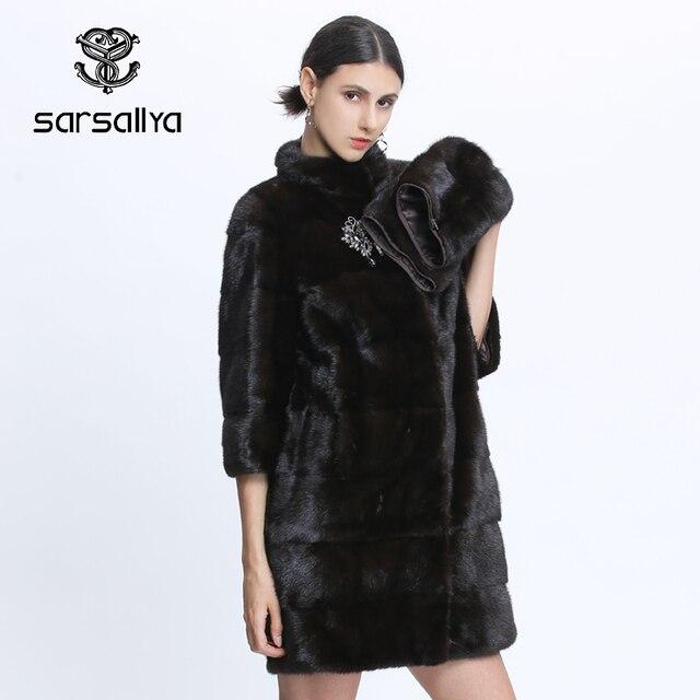 Véritable fourrure vison manteau femmes hiver vison manteaux femme naturel fourrure manteau véritable vison fourrure veste dames surdimensionné détachable Long noir
