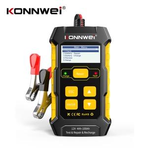 Image 1 - Konnwei kw510 testador de bateria de carro 12v carregadores de bateria automática reparação 5a bateria carregadores molhado seco chumbo ácido ferramenta de reparo de carro